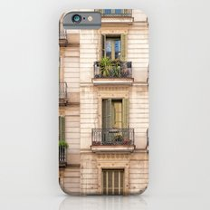 Barcelona balcony in green,blue and gold iPhone 6s Slim Case