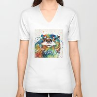 otters V-neck T-shirts featuring Otter Art - Ottertude - By Sharon Cummings by Sharon Cummings