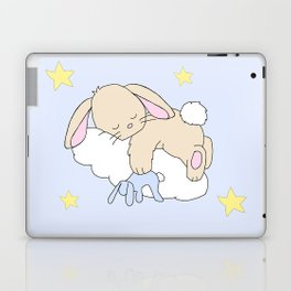 Floppy Ears Woodland Baby Bunny Sleeping on Cloud in Starry Night Sky Laptop & iPad Skin