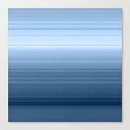 gradient , smoky, gray, blue , stripes Canvas Print