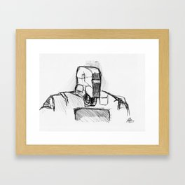 Warbot Sketch #014 Framed Art Print