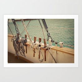Sailboat Ropes and Lines Color Photo Art Print