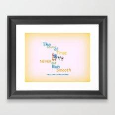 Course Of Love Framed Art Print