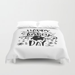 Happy Turkey Day Thanksgiving Duvet Cover