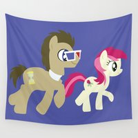 mlp Wall Tapestries featuring Doctor Whooves & Rose by Adrian Mentus