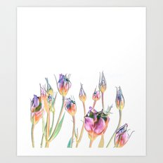Fantasy Florals #society6 #decor #buyart Art Print