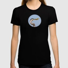 Great Blue Heron Fishing - I T-shirt