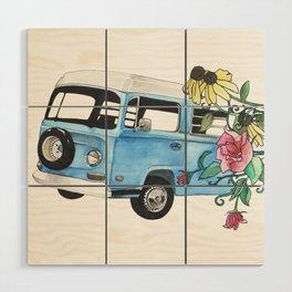 Flower Power Wood Wall Art