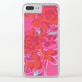 Pink Bouquet Clear iPhone Case