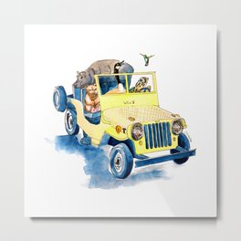 Animal Jeep Metal Print