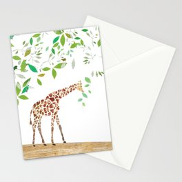 Giraffe's Lunchtime Stationery Cards