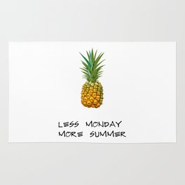 Less monday more summer Rug