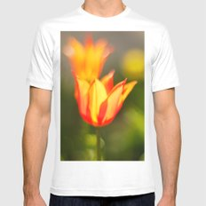 Red and yellow tulip White MEDIUM Mens Fitted Tee