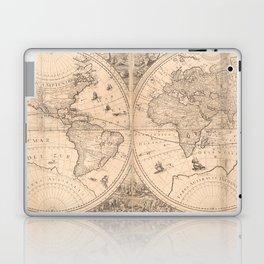 Vintage Map of The World (1650) Laptop & iPad Skin