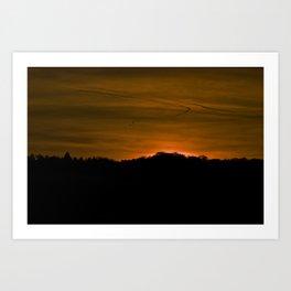 Winter Sunset III Art Print