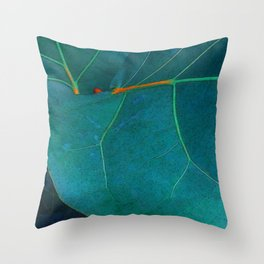 Two Sea Grape Leaves Throw Pillow