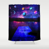 universe Shower Curtains featuring Universe by haroulita