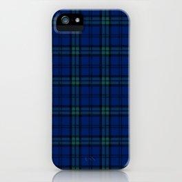 Minimalist Black Watch Tartan Modern iPhone Case