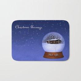 Christmas Blessings Bath Mat