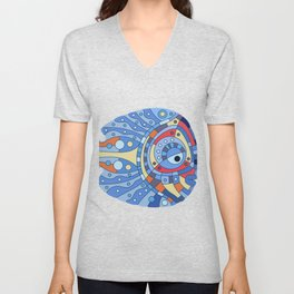 Fish art 21.4 Unisex V-Neck