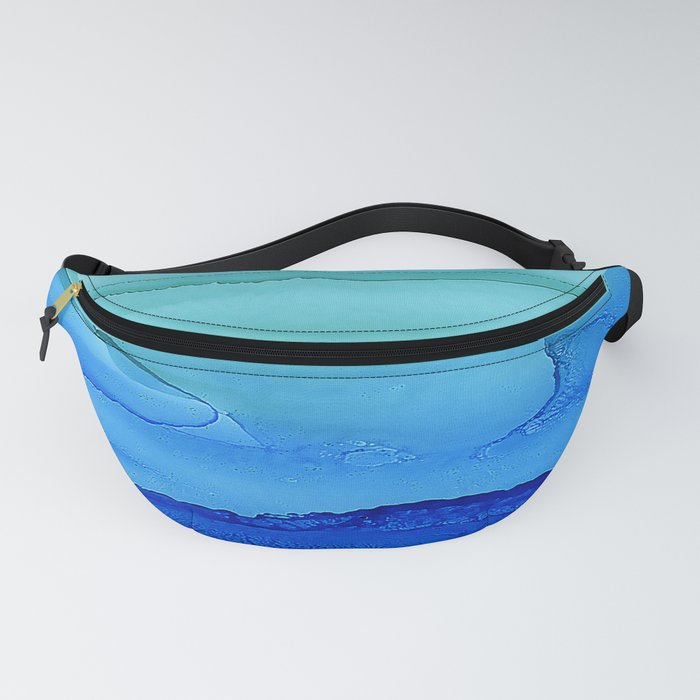 Alcohol Ink Seascape Fanny Pack