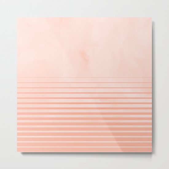 Sweet Life Peach Coral Gradient Metal Print