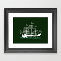 Cutter Fish Framed Art Print