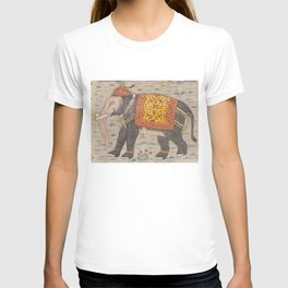Vintage Decorated Elephant Painting (17th Century) T-shirt