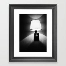switch the light on Framed Art Print