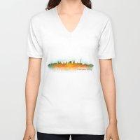 kansas city V-neck T-shirts featuring Kansas City Skyline Hq v3 by HQPhoto