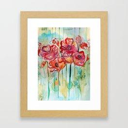 River Poppies Framed Art Print