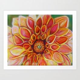 I dream of Dahlias Art Print
