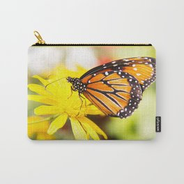 Happy Monarch Butterfly Carry-All Pouch