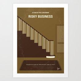 No615 My Risky Business minimal movie poster Art Print