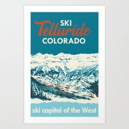 Vintage Ski Telluride Poster Art Print