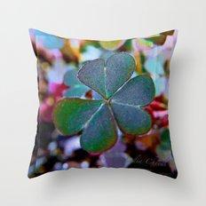 Heart clover Throw Pillow
