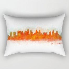 Philadelphia City Skyline Hq V3 Rectangular Pillow