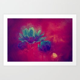 Abstract floral painting Art Print