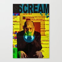 scream Canvas Prints featuring Scream by Alec Goss