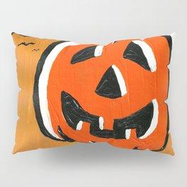 Vintage Jack o' Lantern and Bats Pillow Sham