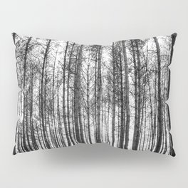 trees in forest landscape - black and white nature photography Pillow Sham