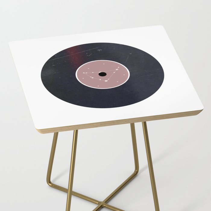 Vinyl Record Star Sign Art | Capricorn Side Table