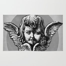Cherub Face | Angel | Vintage cherub | Vintage angel | Angel decor Rug