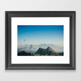 Panoramic Rio de Janeiro Brazil Framed Art Print