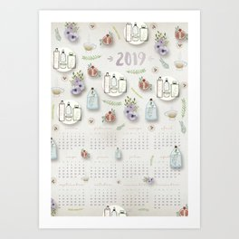 Calendario 2019 Art Print