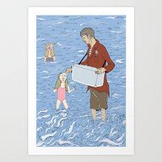 Ice Creamed Art Print