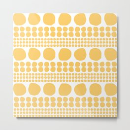 Sten gul Metal Print