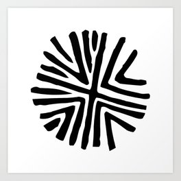 Taino star design for bohemian decor Art Print