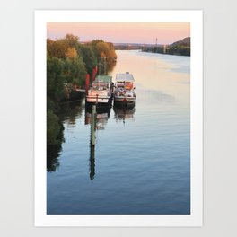 Boats on th Seine Art Print