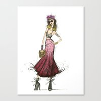 coachella Canvas Prints featuring Coachella Chic by Gabriella Giliberto